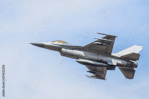 fighter jet military aircrafts flying with high speed on blue sky Slika na platnu