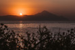 Landscape photo of sunset in Sithonia, Greece. Beautiful summer scenery.