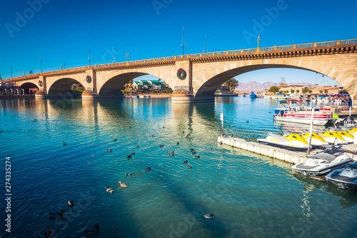 Canvas Prints Arizona London Bridge, Lake Havasu City, AZ.