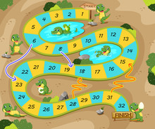 The Snake And Ladders Game Wit...