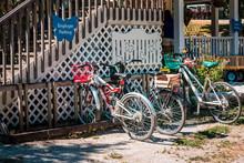 Bicycle Parking On Mackinac Island