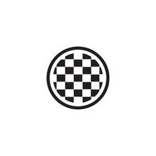 Finish Flag Banner Icon Logo D...