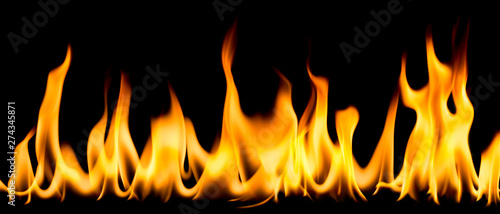 Photo Stands Fire / Flame Flame on a black background