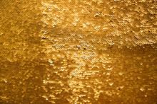 Golden And Iridescent Sequins Texture Background