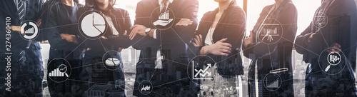 Carta da parati Data Analysis for Business and Finance Concept