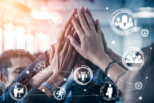 Fototapeta  Human Resources Recruitment and People Networking Concept