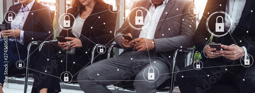 Fotografie, Obraz Cyber Security and Digital Data Protection Concept