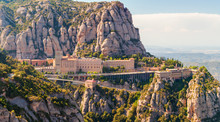 View Of The Montserrat Monastery In Catalonia, Near Barcelona