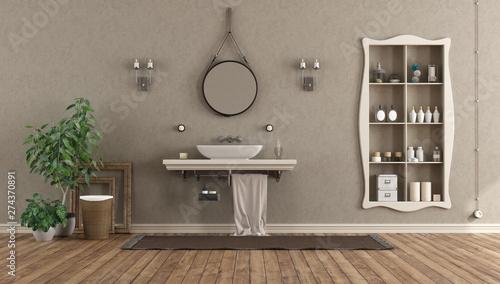 Fotografía  Bathroom with washbasin on shelf in classic style