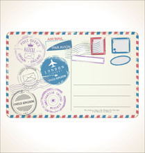 Postal Stamp And Post Card