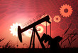 Financial oil economy, gears and oil wells, economic impact and linkage