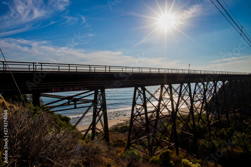 View of Arroyo Hondo Bridge on PCH Highway 1 - Buy this stock photo