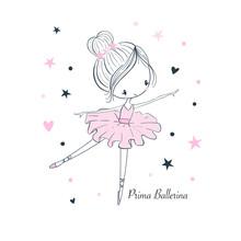 Cartoon Little Prima Ballerina...