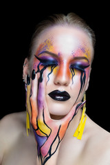 New creative make-up conceptual idea for Halloween