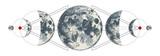 Magic moons tattoo with secret geometry symbols. - 274376000