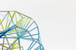 Abstrakte Farbenfrohe Netzstruktur. 3D Druck. Colorful abstract Net Structure. 3d-print.