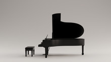 Black Grand Piano 3d Illustrat...