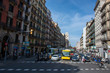 Barcelona, Spain - 26th July 2017 - Busy street with people crossing road