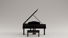 Black Grand Piano 3d Illustration 3d Render