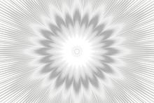 Monochrome Pattern Background Floral Kaleidoscope. Decor Geometric.