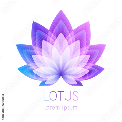 Beautiful lotus flower symbol. Tableau sur Toile