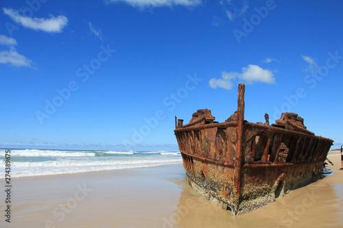 Poster Naufrage SS Maheno Shipwreck on Fraser Island, Australia