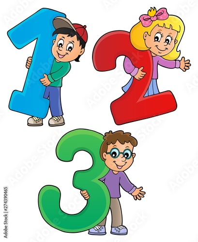 Recess Fitting For Kids Children with numbers theme 1