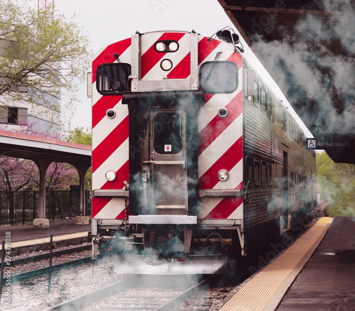 Fotografie, Obraz Morning Commuter Train