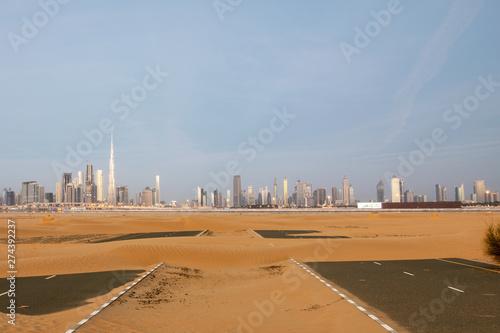 Foto op Canvas Dubai Distant City