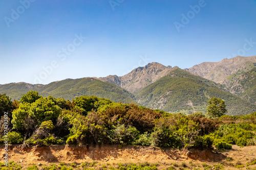 Saos mountain on Samothraki island in Greece