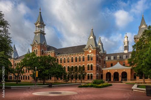 Poster Texas Baylor University campus in Waco, Texas