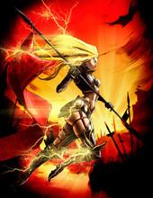 A Beautiful Knight Girl Runs A...