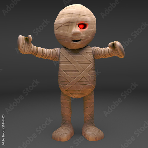Egyptian mummy monster is so pleased to see you, 3d illustration Fototapet