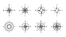 Compass Rose Of Winds With Dir...