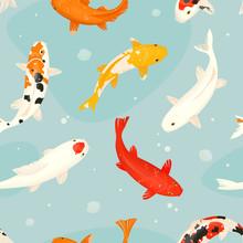 Koi Fish Vector Illustration J...