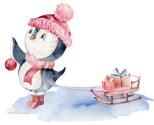 Watercolor Merry Christmas Cha...