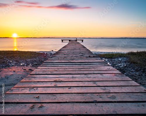 Fotografie, Obraz  Dramatischer Sonnenuntergang an der Nordseeküste