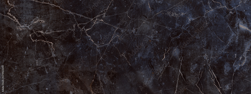 Fototapety, obrazy: dark color marble texture, black marble background