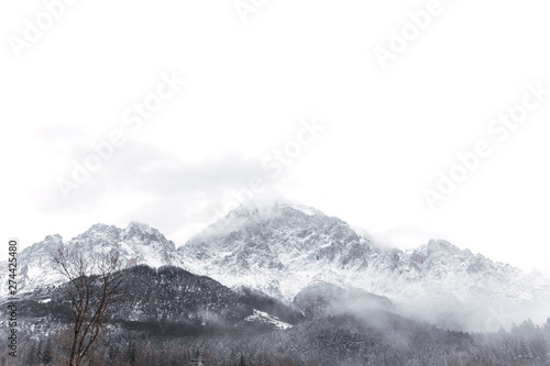 Aluminium Prints Alps Scenic view over mountains in Dolomites, Italy.