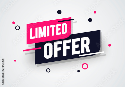 Cuadros en Lienzo Vector illustration special limited offer, sale banner and discount tag design