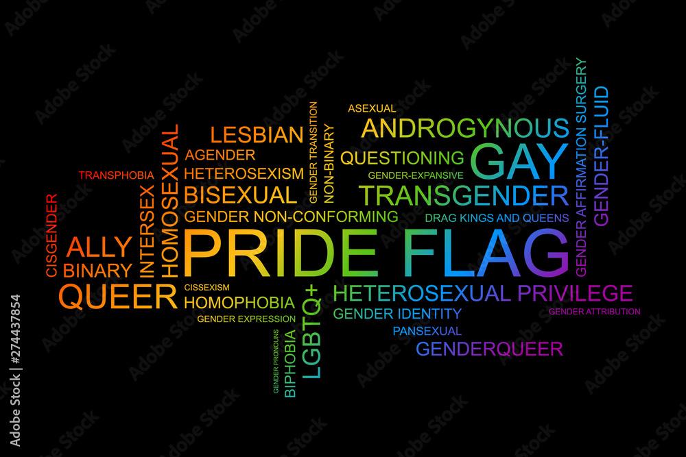 Fototapeta LGBT words in vector format.