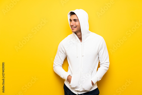Handsome sport man over isolated background Wallpaper Mural