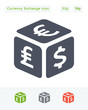 Currency Exchange Cube - Sticker Icons
