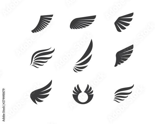 wing logo symbol icon vector illustration Wallpaper Mural