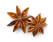 Top View Of Dry Star Anise Fru...