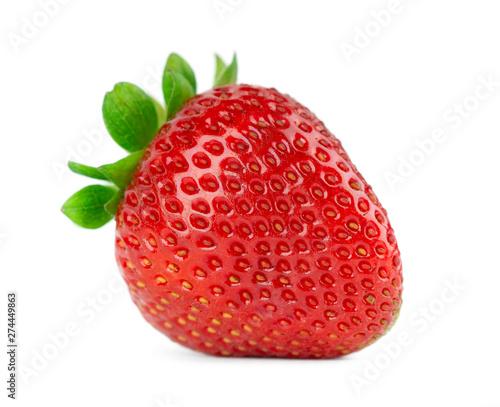 Cuadros en Lienzo Fresh strawberry on white
