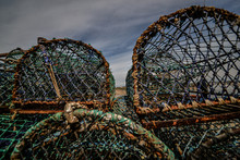 Lobster Pots And Rope On Brigh...