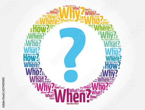 Obraz na plátně  Question mark - Questions whose answers are considered basic in information gath