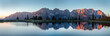 canvas print picture - Wilder Kaiser im See Panorama