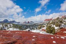 Scenic Winter Landscape In Sed...
